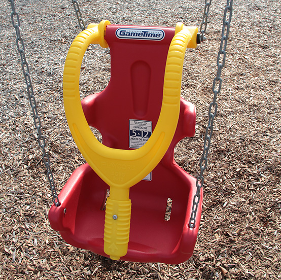 Special Needs Swing Installed At Showalter Park