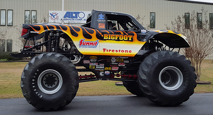 Bigfoot Monster Truck Visits Local Company That Keeps It ...