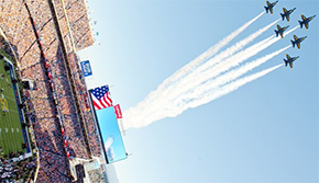 Blue Angels Soar Over Super Bowl
