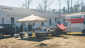 'Convoy 4 Century Rolls In With Tornado Relief Supplies' from the web at 'http://www.northescambia.com/wp-content/uploads/2016/02/convoycenturyfront.jpg'