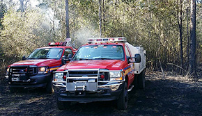 'Brush Fire Destroys Tractor, SUV' from the web at 'http://www.northescambia.com/wp-content/uploads/2016/02/parkerlnbrushfront.jpg'
