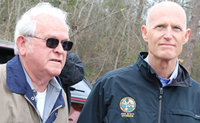'Gov. Rick Scott Tours Tornado Damage In Century, Pensacola (With Photo Gallery)' from the web at 'http://www.northescambia.com/wp-content/uploads/2016/02/scottfront.jpg'