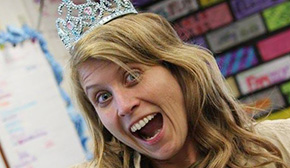 'New Teacher Of The Year Gets 'Crowned' During Surprise Visit' from the web at 'http://www.northescambia.com/wp-content/uploads/2016/02/toyfront.jpg'