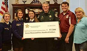 Sheriff's Office Donates $7,500 To Tate FFA Alumni Foundation