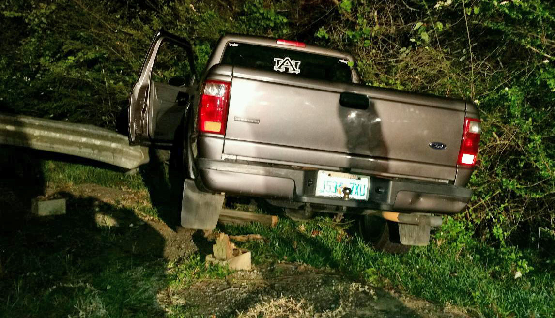 One injured in highway guardrail crash northescambia