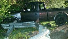 One Injured In Highway 29 Guardrail Crash