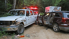 Three Escape Serious Injury In Backwoods Road Crash