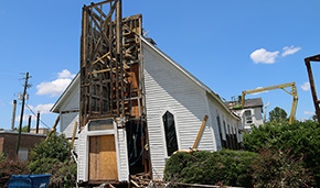 Tornado Damaged Historic Century Methodist Church Coming Down