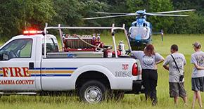 Volunteer Firefighters Undergo Hands On LifeFlight Training