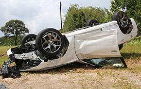 One Injured In Highway 97 Rollover Crash