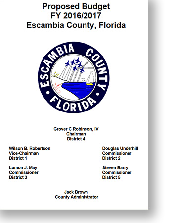 Proposed 2016 17 Escambia County Budget Now Available Online