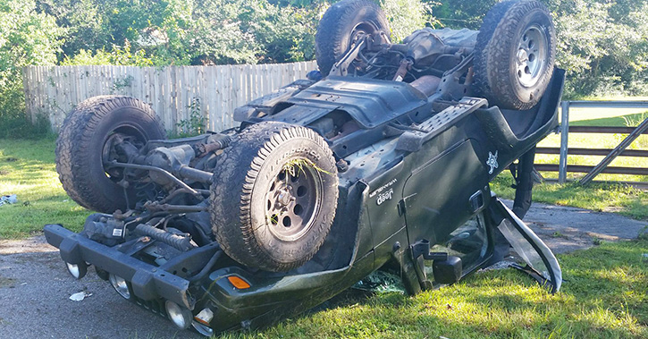 Driver Serious After Cantonment Crash