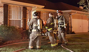 Firefighters Save Cantonment Home
