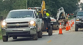 Water Main Leak Slows Molino Traffic