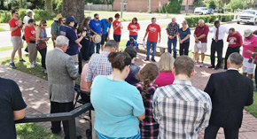 Faithful Gather To Pray For Area Law Enforcement