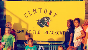 New Sign Proclaims Century Blackcat Pride At Anthony Pleasant Park
