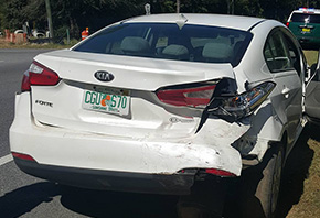 No Injuries In Midday Cantonment Crash