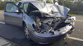 One Injured In Jacks Branch Road Crash