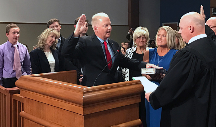 Escambia Commissioners Take Oath Of Office Board Reorganizes