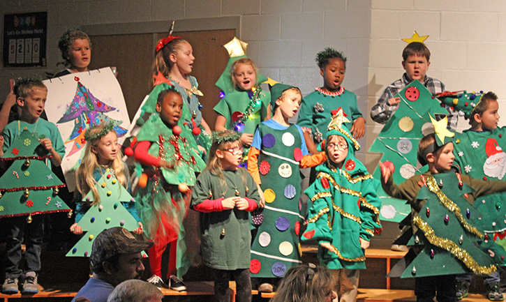 molino park elementary schools first and second grade classes presented the littlest christmas tree tuesday night at the school