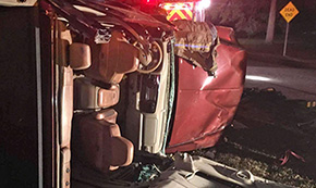 Victim Trapped In Two Vehicle Crash