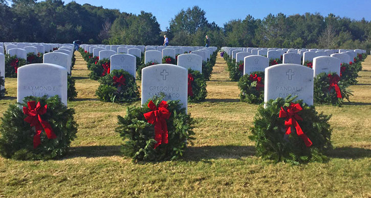 Holiday Wreaths Honor Our Soldiers At National Cemetery In Bourne