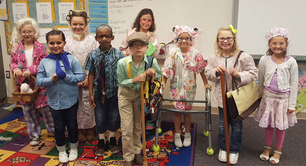 Image result for students dressing up for 100th day of school