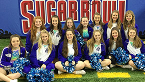 Jay Cheerleaders Perform During Sugar Bowl Halftime