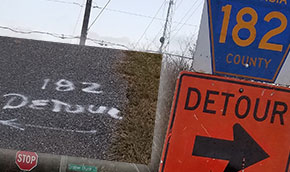 Sign Guy Had Just One Job: But This Molino Detour Goes In Circles