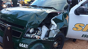 Suspect Fleeing Deputy Causes Traffic Crash