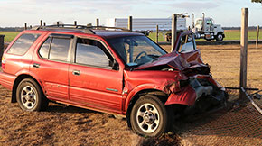Driver Hits Semi, Fence On Highway 97 Near Walnut Hill