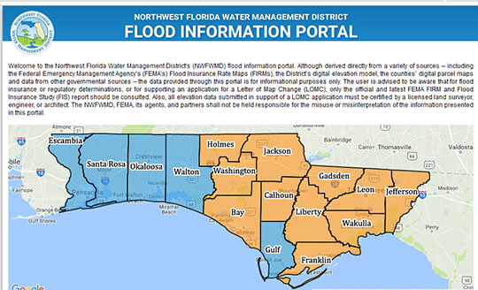 Northwest Florida Map.Escambia County Updated Preliminary Flood Maps Available