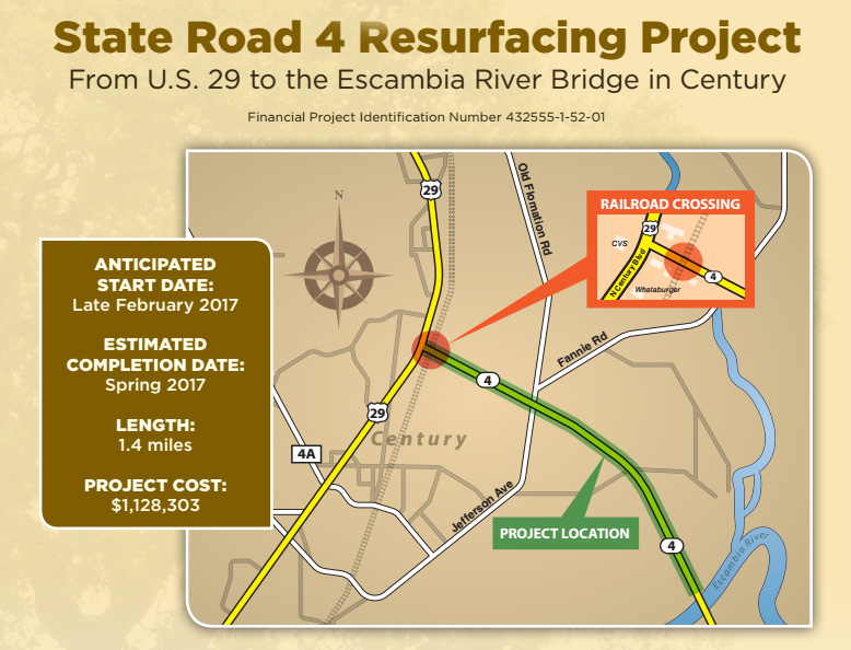 Work Set To Resurface State Road 4, Reconstruct R/R Crossing