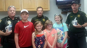 Blessed Are The Peacemakers: Special Visitors At Century Sheriff's Precinct
