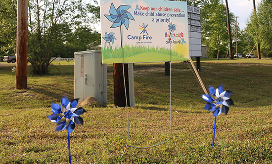 Pinwheels raise awareness for child abuse prevention