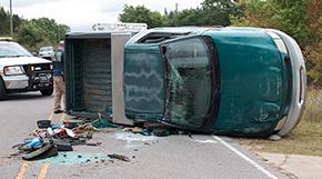 No Serious Injuries In McBride Road Rollover Crash