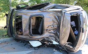 Three Injured In Cantonment Rollover Crash