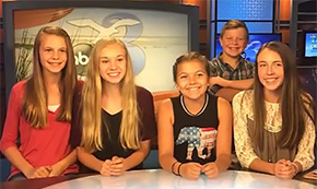 Ernest Ward Middle School TV Students Visit WEAR