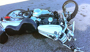 Motorcyclist Injured In Cantonment Crash