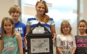 Molino Park Students Receive Flag Flown On U.S. Missions In Kuwait