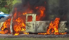 Pickup Destroyed By Fire (With Photo Gallery)