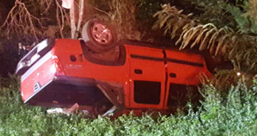 No Serious Injuries In Molino Road Rollover Crash