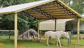 Grant Builds Three Pole Barns For Panhandle Equine Rescue