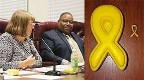 Gold Ribbons: Council Marks Childhood Cancer Month