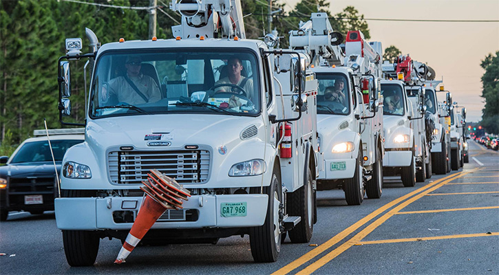 With 7.4 million without power, utility workers get respect