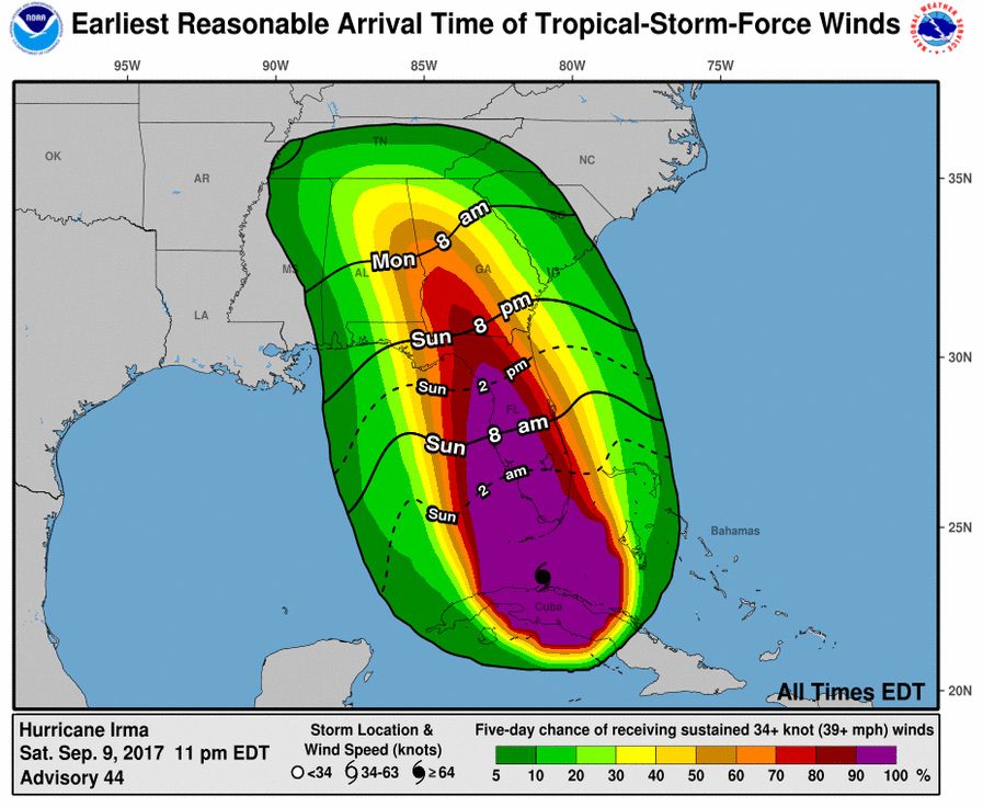 Irma remnants to bring strong winds to Manchester area; advisory issued