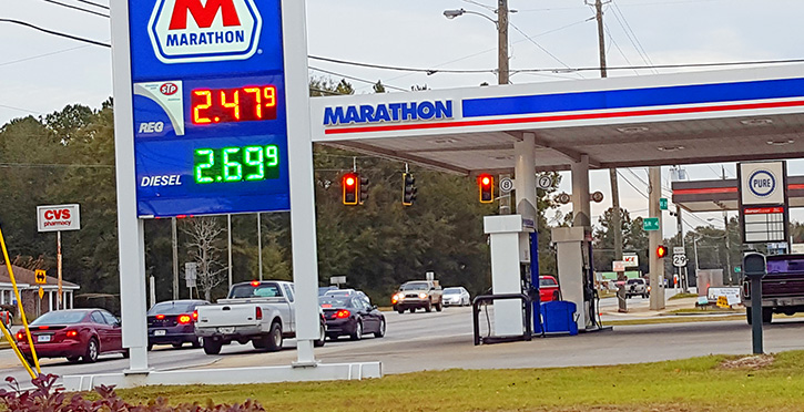 Alabama gas prices lowest in the nation this Thanksgiving Day