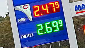 Gas Prices Down Slightly For The Thanksgiving Travel Weekend