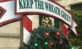 Now Six Bulbs Lit In 'Keep The Wreath Green' Fire Safety Campaign