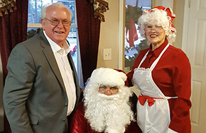 Santa And Mrs. Claus Attend Century Chamber's Christmas Open House